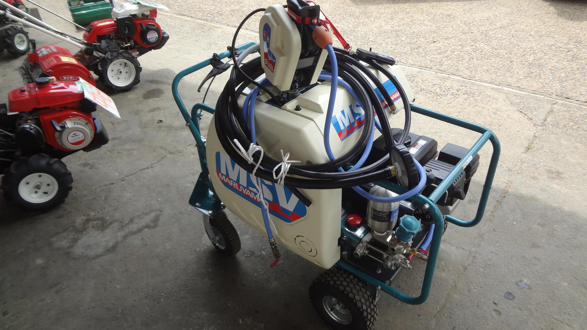 中古ラジコン動噴 自走式 送出付き 丸山 MSV415R2SL 6.3馬力 新品みたい