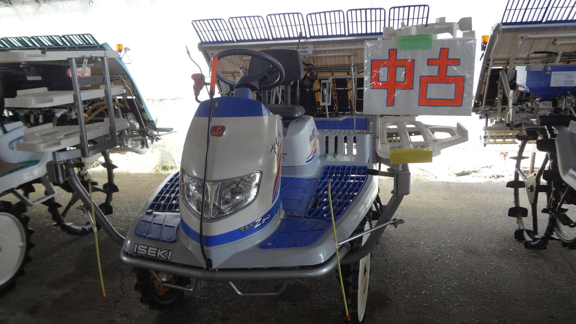 中古田植え機 イセキ 6条 PZ60HVRL 内付補助車輪付