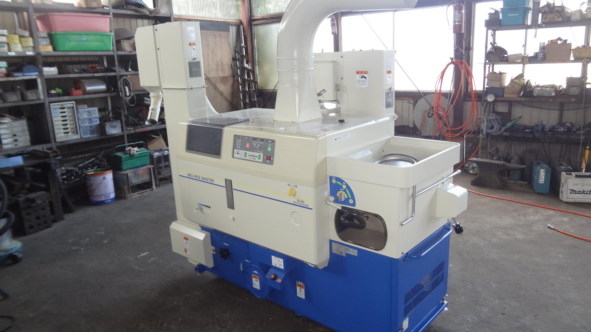 中古籾摺り機4インチ サタケNPS450DWAM 2.8KW