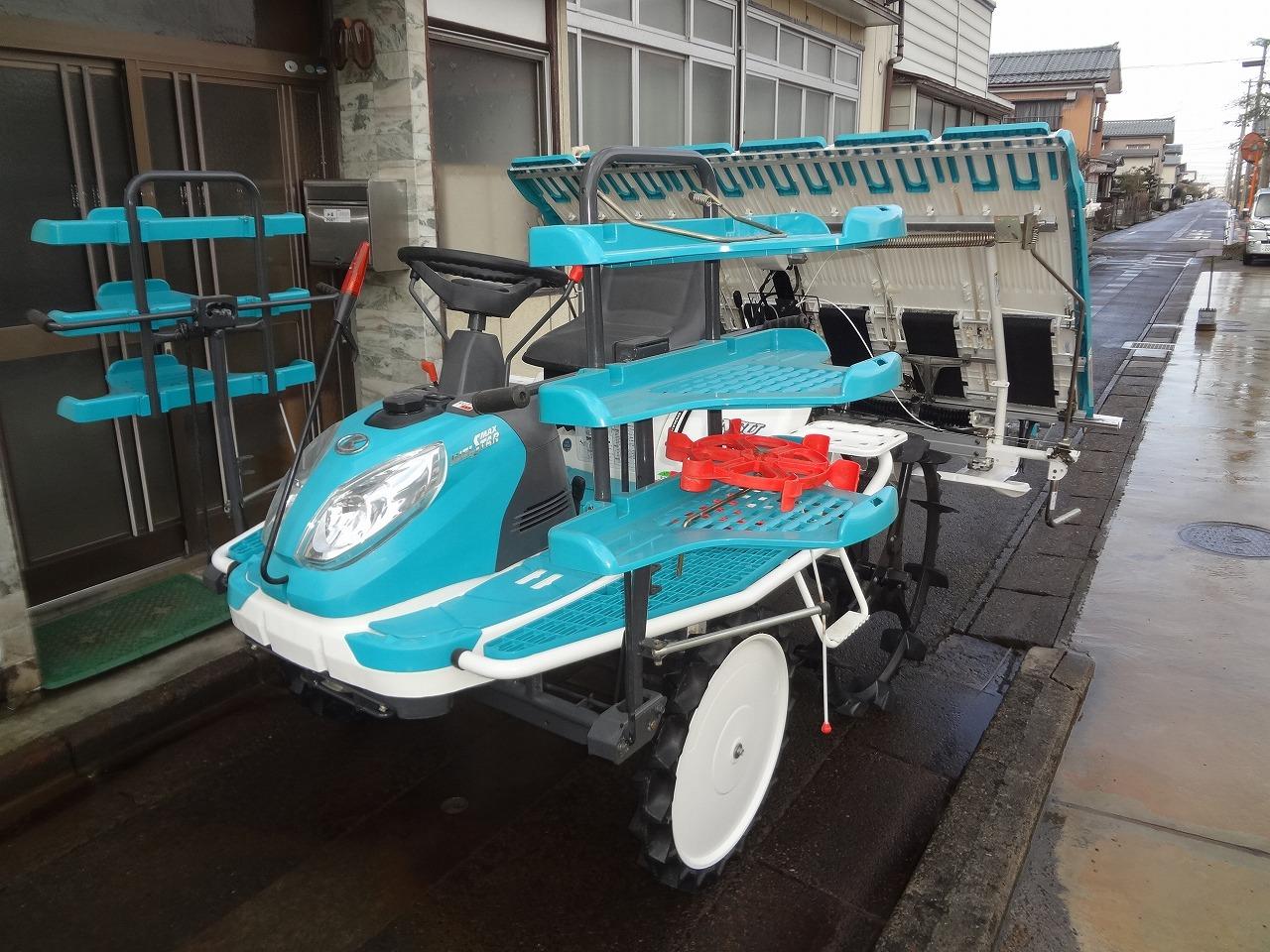 中古田植え機 クボタ 6条植え NSU60I 内付補助車輪付