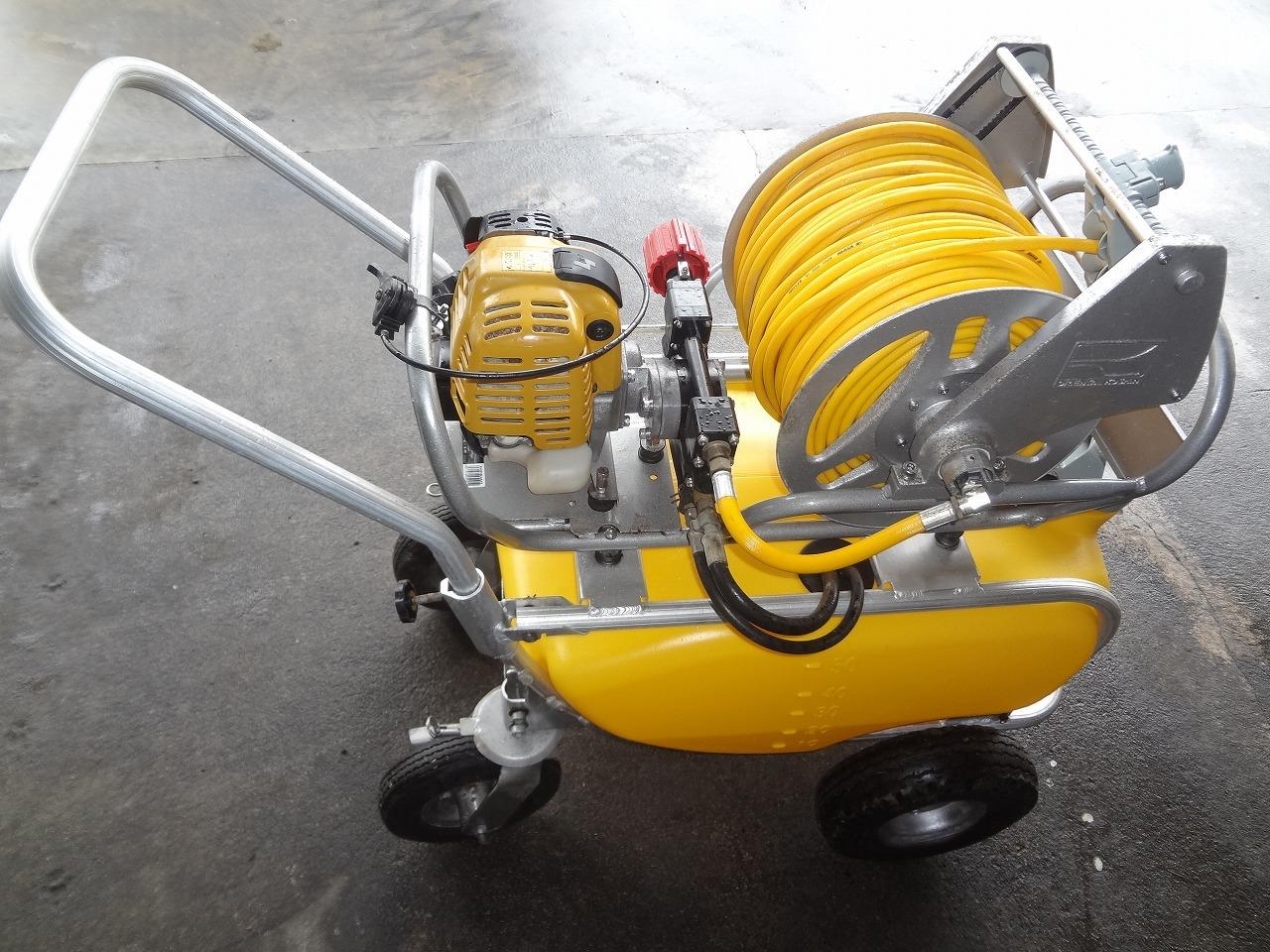 小型セット動噴 コーシンKVER100 25cc4サイクルエンジン プランジャポンプ