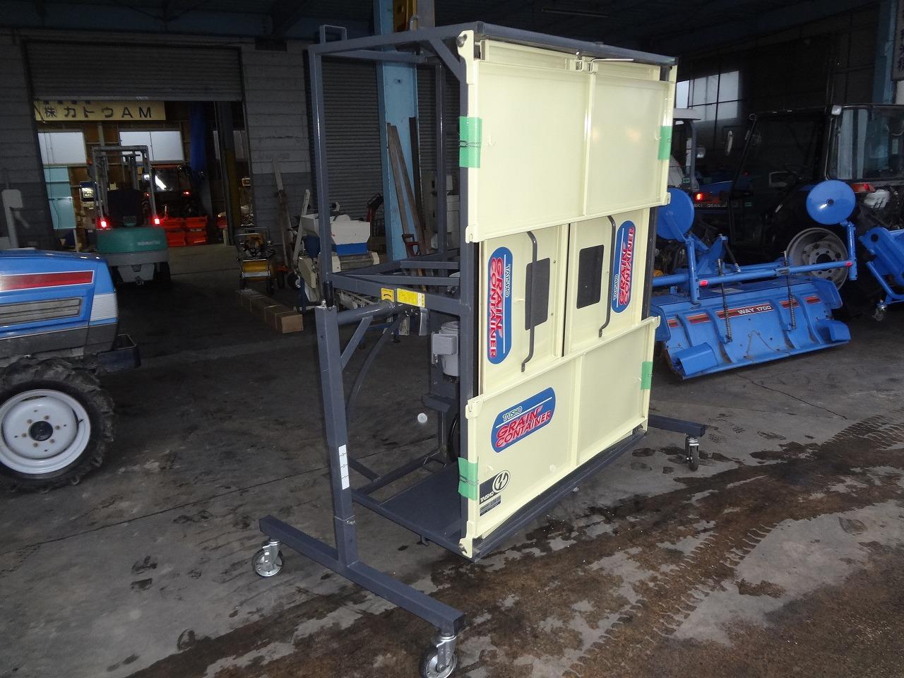 タイショー籾コンテナUM11 1反用軽トラ用 3mバネコン 回転スタンド付