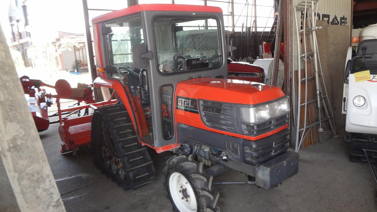 中古トラクター 21馬力 クボタ パワクロ GT21BSMAPC エアコンキャビン