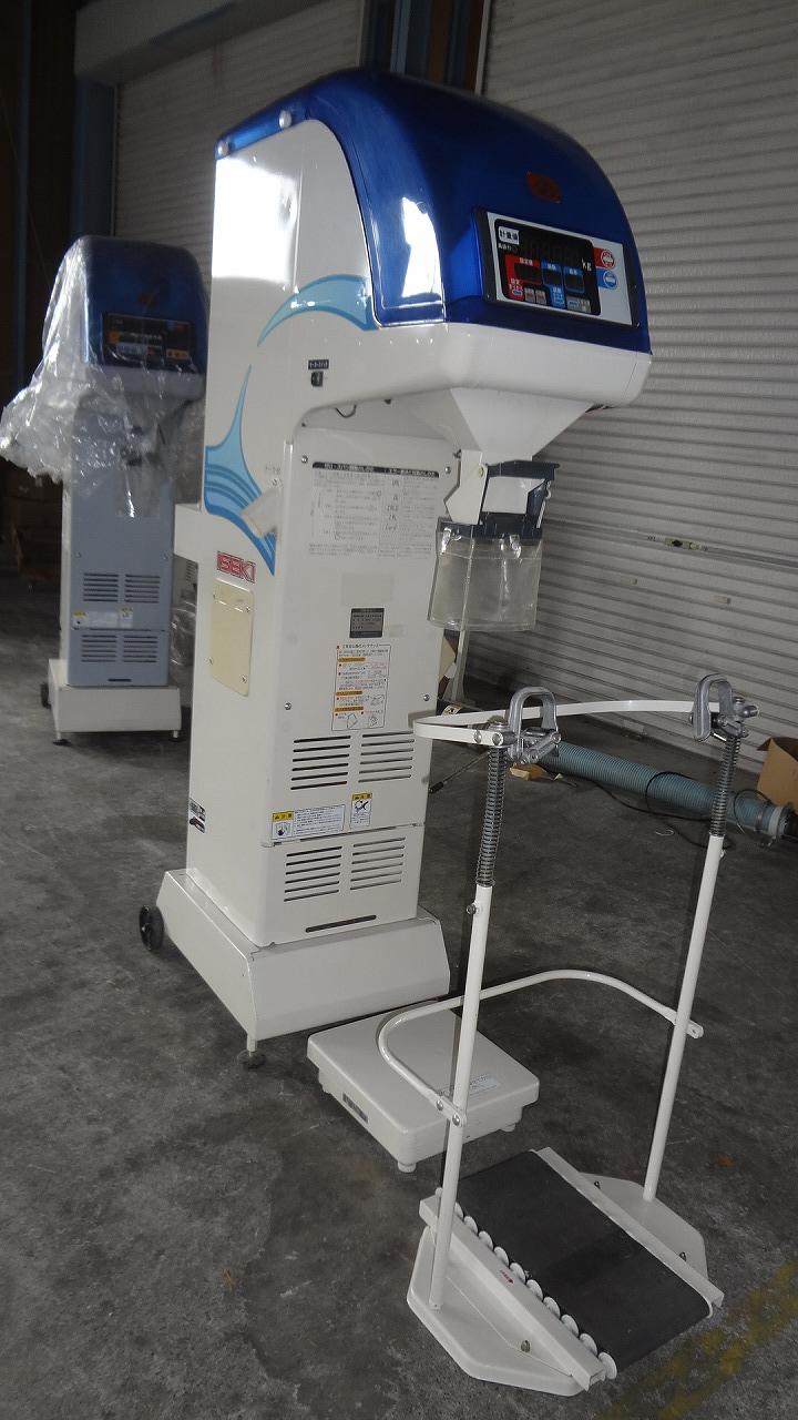 中古選別計量器イセキLTA203-A3L 1.85網付 袋キャッチャー
