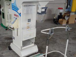 中古選別計量器 イセキ LTA203 1.90網付 ローラー型袋キャッチャー付 自動オープン